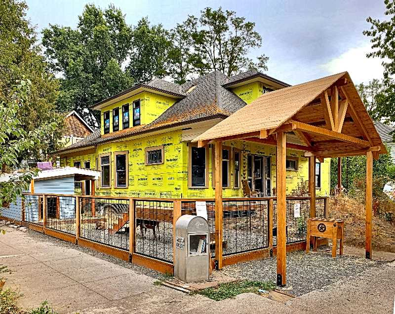 WILSON HACK - The Goat House on Lexington Avenue in Sellwood, as it undergoes reconstruction.