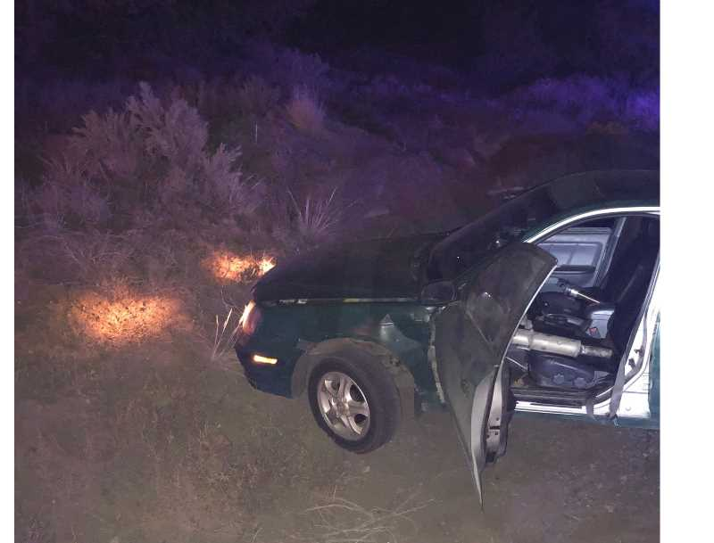JEFFERSON COUNTY SHERIFF'S OFFICE - The driver of a stolen car lost control and got stuck on the shoulder of Grizzly Road Sept. 15.
