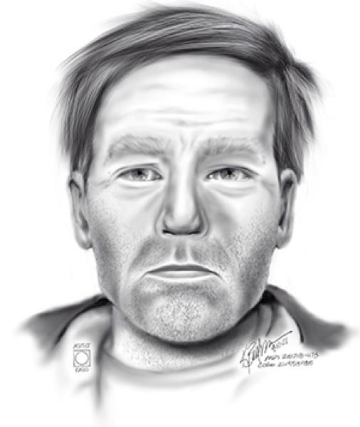 COURTESY: PPB - An artists sketch of the deceased man.