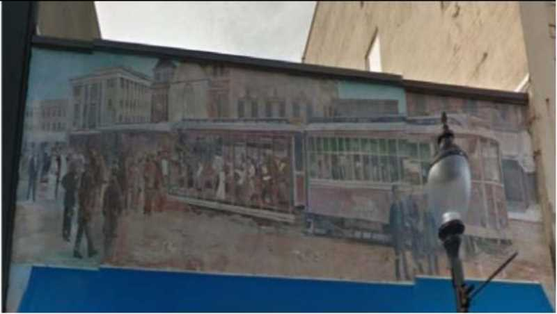 COURTESY PHOTO: CITY OF OC - A mural above Don Pepe's Restaurant in Oregon City was originally created by artist Larry Kangas in 1992.