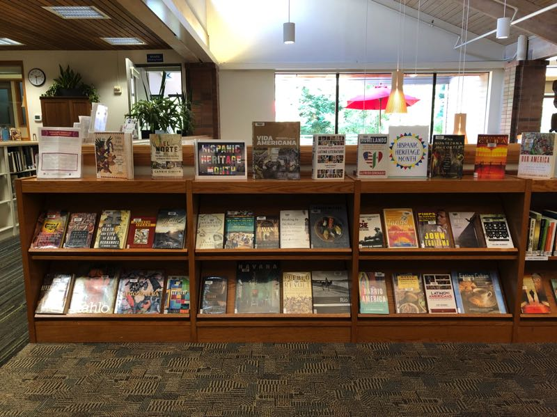 COURTESY PHOTO: LAKE OSWEGO PUBLIC LIBRARY - The Hispanic heritage display of adult nonfiction books at the library.
