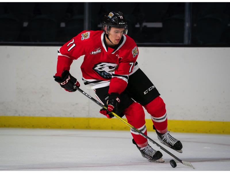 COURTESY PHOTO: WINTERHAWKS/CHRIS MAST, GETTY IMAGES - Fourth-year forward Cross Hanas, a Detroit Red Wings prospect, is part of a deep group of forwards on The Portland Winterhawks roster.
