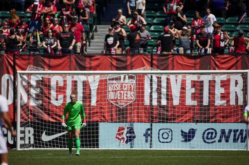 COURTESY PHOTO: CRAIG MITCHELLDYER/THORNS FC - Playing in front of family, friends and the Rose City Riveters supporters at Providence Park is a thrill for Rex Putnam High and Oregon State graduate Bella Bixby.