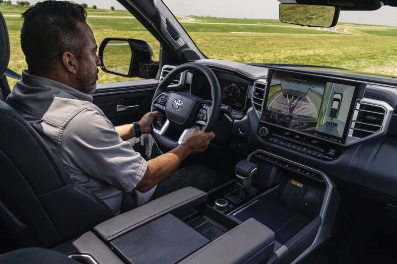 COURTESY PHOTO: TOYOTA - The interior of the 2022 Toyota Tundra has been completely redesigned and can be ordered with a 14-inch display screen.