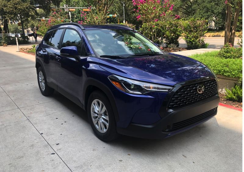 PMG PHOTO: JEFF ZURSCHMEIDE - The all-new 2022 Toyota Corolla Cross competes in the emerging market of small-but-not-too-crossover SUVs.small
