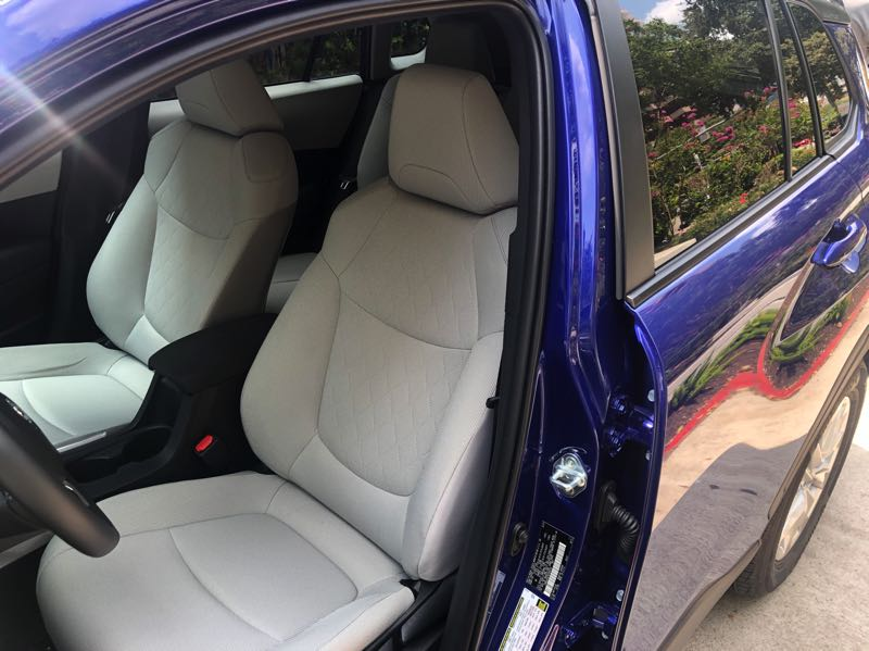PMG PHOTO: JEFF ZURSCHMEIDE - The interior of the 2022 Toyota Corolla Cross features a surprising amount of room for the driver and front seat passenger.