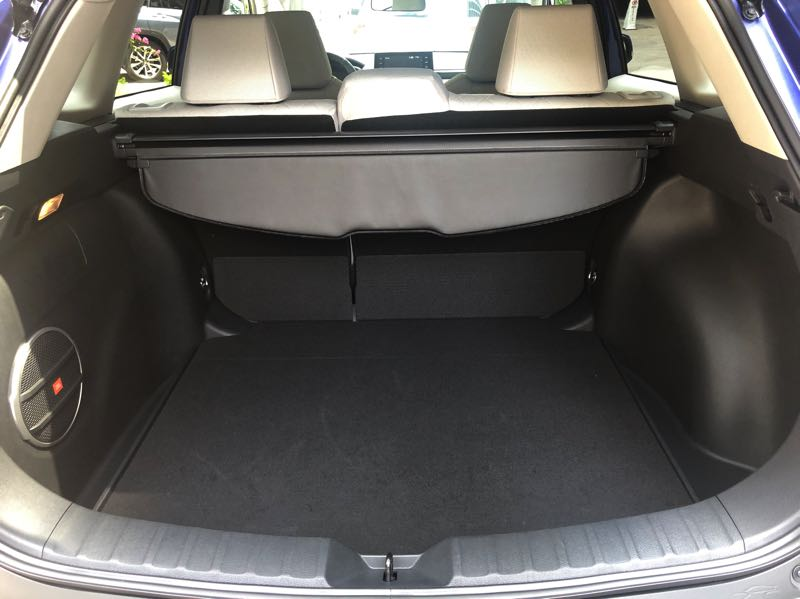 PMG PHOTO: JEFF ZURSCHMEIDE - The 2022 Toyota Corolla Cross offers a large amount of cargo space, and even more with the rear seats folded down.