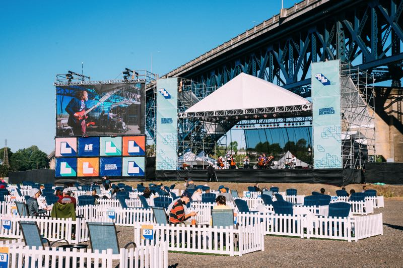 COURTESY PHOTO: KELSEY CURTIS - The Lot at Zidell Yards helped allow for the return of live performances and provided a picturesque setting in 2021.