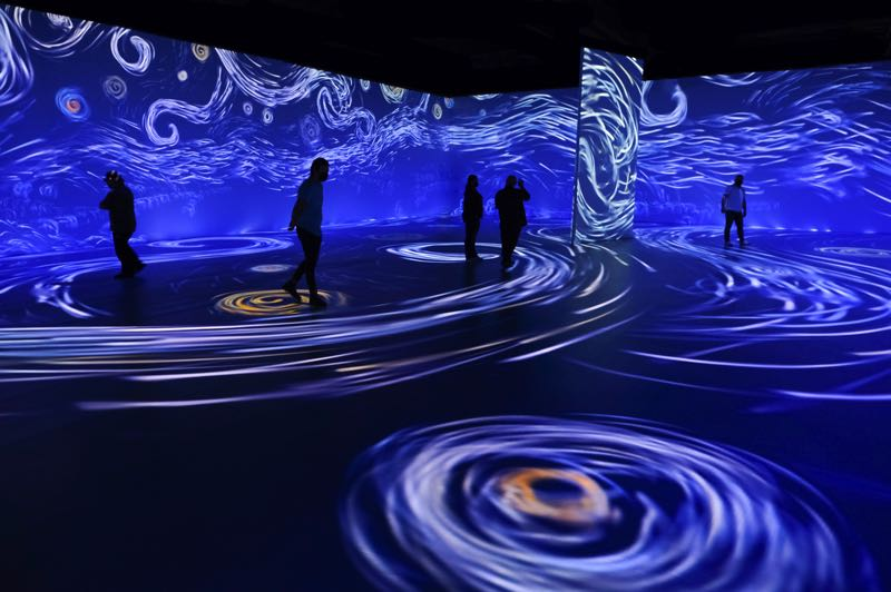 COURTESY PHOTO: NORMAL STUDIO - The Starry Night is one of more than 300 paintings by Vincent Van Gogh that have been turned into 3D projections in Beyond Van Gogh: The Immersive Experience. The exhibit can be seen at the Oregon Convention Center, starting Nov. 19.