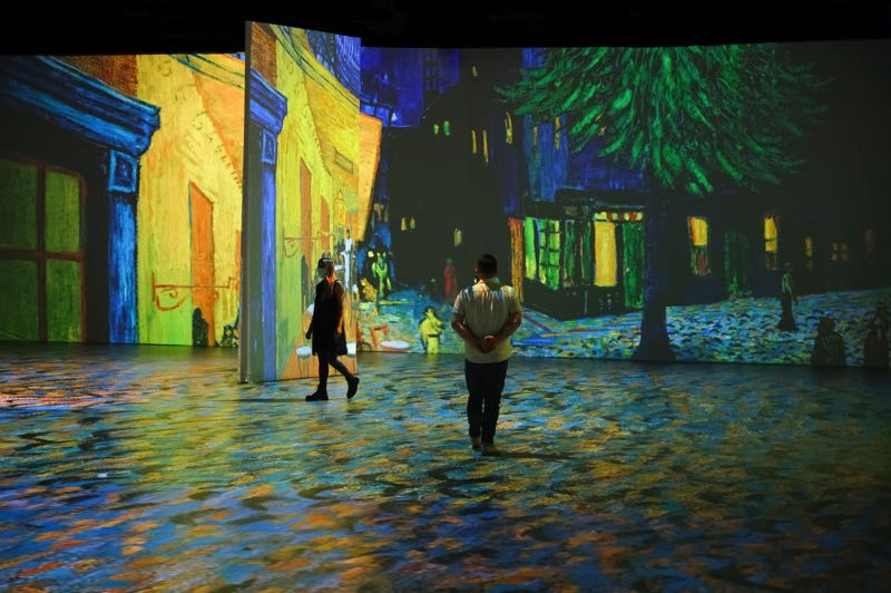 COURTESY PHOTO: NORMAL STUDIO - You, too, can walk through Van Gogh's Cafe Terrace at Night at the Oregon Convention Center.