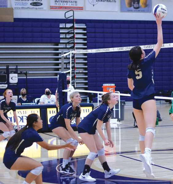 PMG PHOTO: SARAH OLIVER - The Canby volleyball team split a pair of league matches during the week.