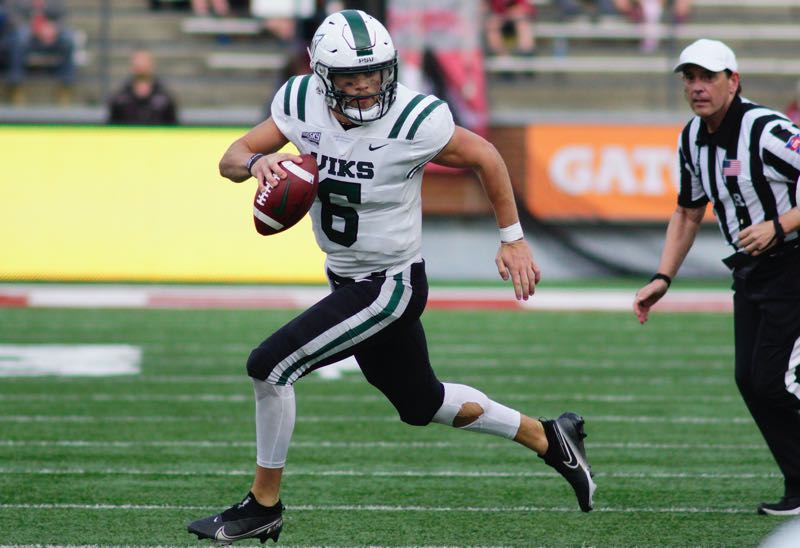 COURTESY PHOTO: PSU ATHLETICS/KAI EISELEIN - Quarterback Davis Alexander and Portland State look to open Big Sky play on Saturday on the right foot, but the Vikings face a challenging conference opener against Montana State at Hillsboro Stadium.