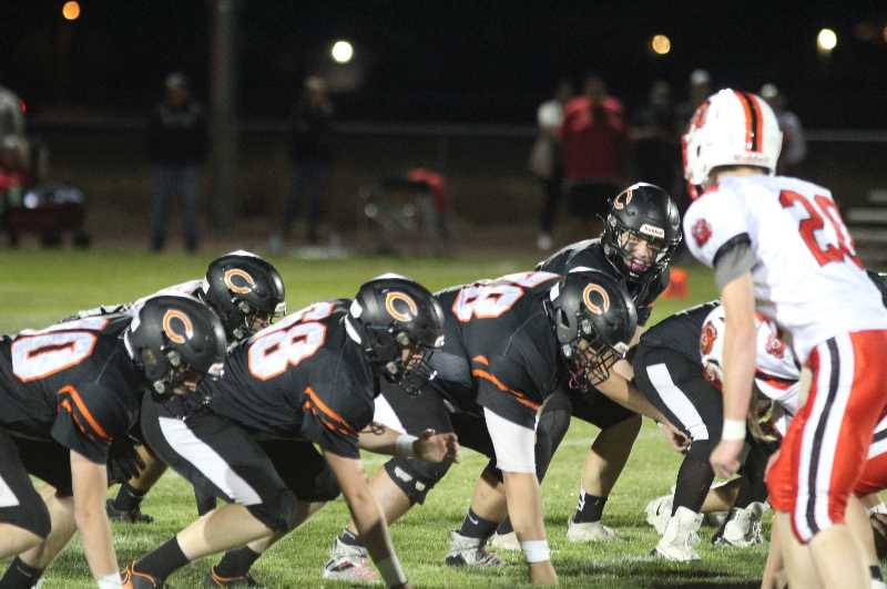 PMG PHOTO: ANDY DIECKHOFF - Culver head coach praised his offensive line for their play, especially in protecting quarterback Logan Macy.