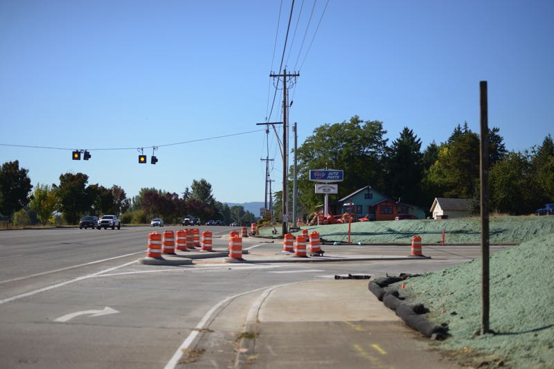 PMG PHOTO: ANNA DEL SAVIO - The first stage of construction at Highway 30 and Millard Road concluded in September.