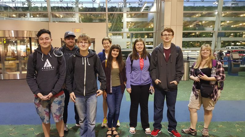 COURTESY PHOTO - A 2016 Wilsonville student delegation gets ready to depart for Kitakata at the Portland Airport.