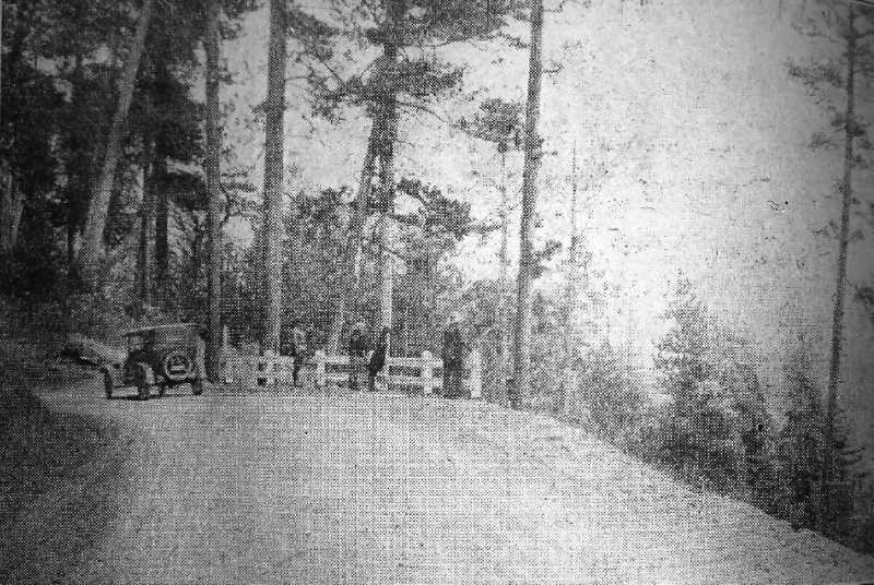 CENTRAL OREGONIAN - September 26, 1926: Ochoco Highway near summit east of Prineville on the road to Wheeler County.