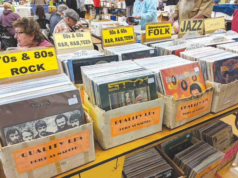 FILE PHOTO: JOHN BAKER - Music and music memorabilia are all part of the Record Bonanza in Canby.