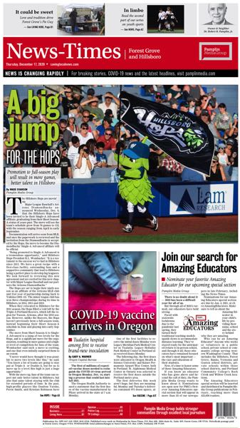 FILE - The News-Times of Forest Grove and Hillsboro won multiple awards for its work in 2020.