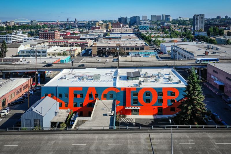 COURTESY PHOTO: TRUEBECK CONSTRUCTION - The Factor Building is the latest industrial space to be rennovated and remodeled into creative office space.