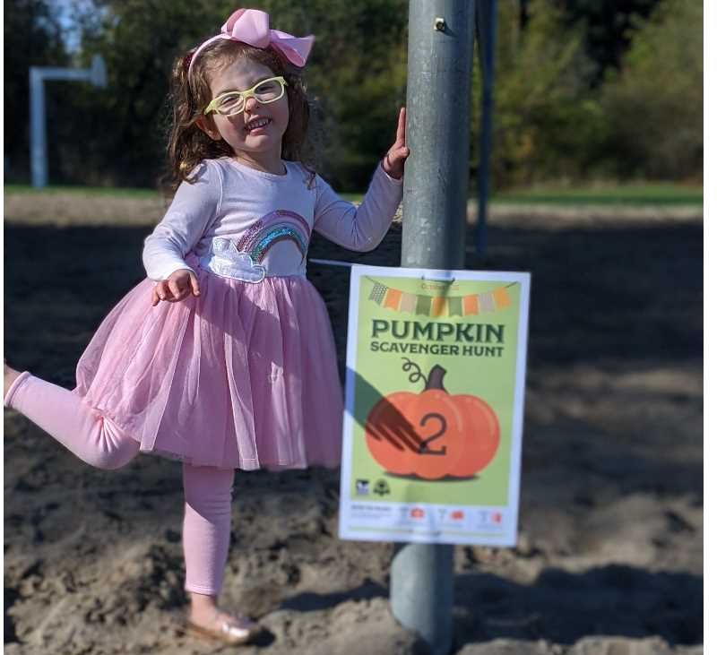 COURTESY PHOTO: TIGARD PARKS & REC - Clues will help children find their way to all five pumpkin signs hidden at Cook Park.