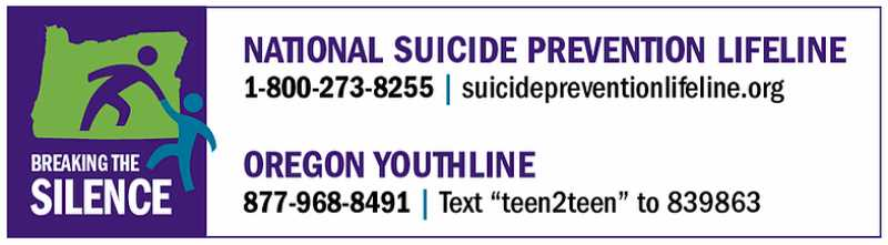 COURTESY LOGO: BREAKING THE SILENCE - Help to stay alive is available for those considering suicide.