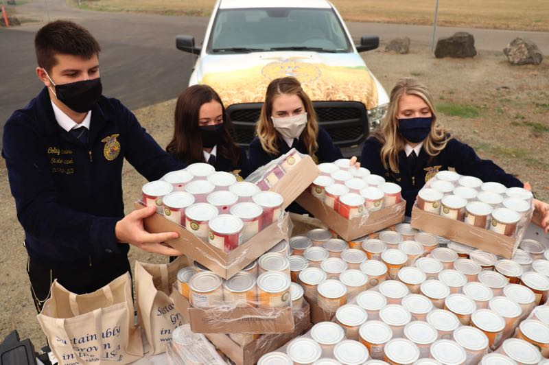COURTESY PHOTO: OREGON FFA - Oregon FFA and Les Schwab Tires Centers have teamed up to host a food drive during October.