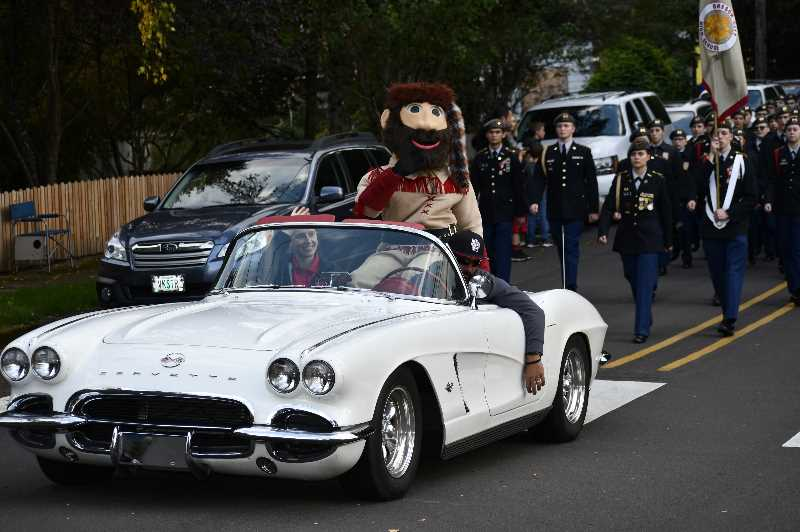 PHOTO COURTESY: OCSD - Oregon City High School has a costume for its Pioneer Pete mascot that is occasionally worn at homecoming parades.
