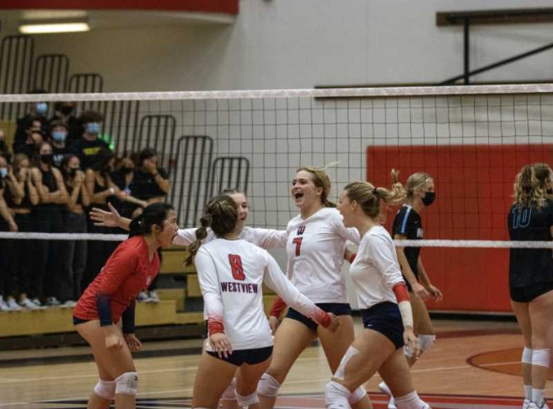 COURTESY PHOTO - Wildcats' match versus Moutainside Sept. 16, at Westview High School. Westview is 14-2 and second in the Metro League standings.