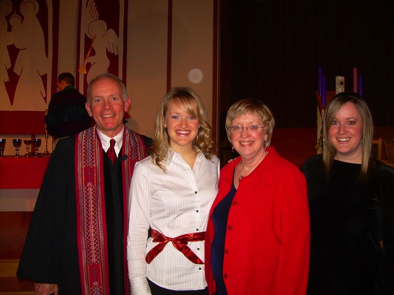 COURTESY PHOTO  - Bob Sanders, left, Becca Bruner, Debbie Sanders and Kristin Sanders. The family set up a memorial fund in Bob's name to help fund mission trips.