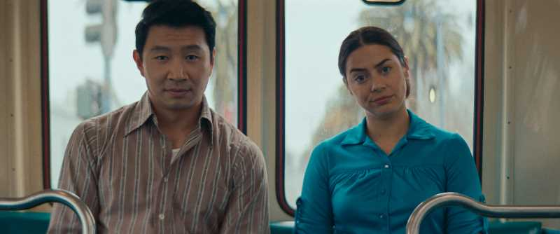 COURTESY OF LOOK AT THE MOON PICTURES - Simu Liu and Lorenza Izzo in 'Women is Losers.'