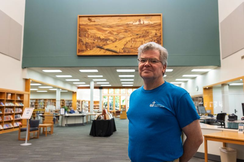 PMG PHOTO: JAIME VALDEZ - Library Director Pat Duke is retiring after working at the Wilsonville Public Library since 1997.