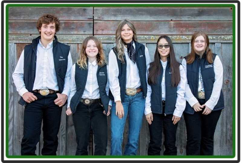 COURTESY PHOTO: JAIME HUDSON - Clackamas County 4-H youth who qualified for national competition are, from left: Theo Nunn, Jasmine Fairchild, Carly Shanklin, Joie Ellington and Kaydilayne Weikel.