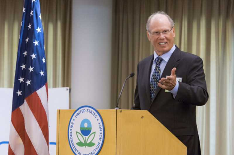 COURTESY PHOTO: ROGER MCFADDEN - Roger McFadden of McFadden and Associates, LLC in Canby accepts the Environmental Protection Agency's Safer Choice Partner of the Year Award.