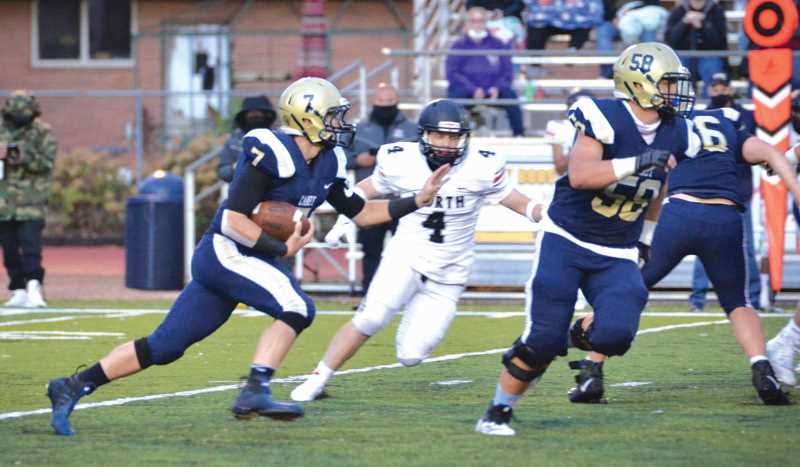 COURTESY PHOTO: SARAH OLIVER - Canby running back Bryce Oliver was part of an offensive outburst Oct. 1 against visiting McKay. The Canby offense has found it rhythm, having put up 108 points in the past two games.