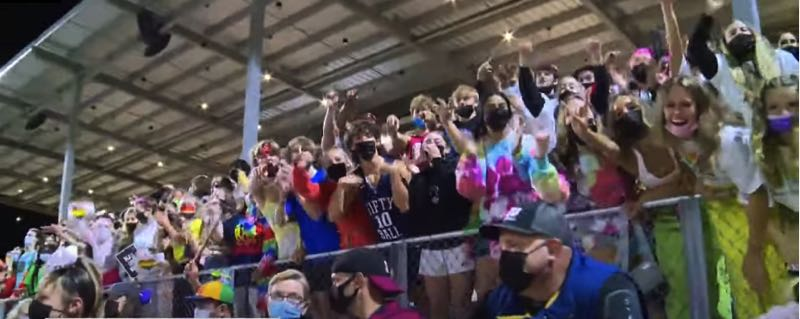 VIA KOIN 6 NEWS - Both Sherwood and Newberg fans were encouraged to wear rainbow colors during their recent football game.