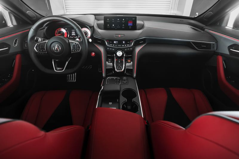 CONTRIBUTED PHOTO: AMERICAN HONDA MOTOR COMPANY - The interior of the 2021 Acura TLX is completely redesigned and can be ordered withthe most advsanced automotive technologies.