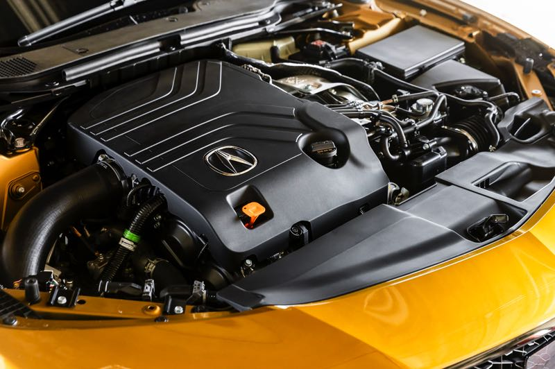 CONTRIBUTED PHOTO: AMERICAN HONDA MOTOR COMPANY - The twin turbocharged 3.0-liter V6 in the 2021 Acura TLX Type S produces an impressive 355 horsepower and 344 foot pounds of torque.