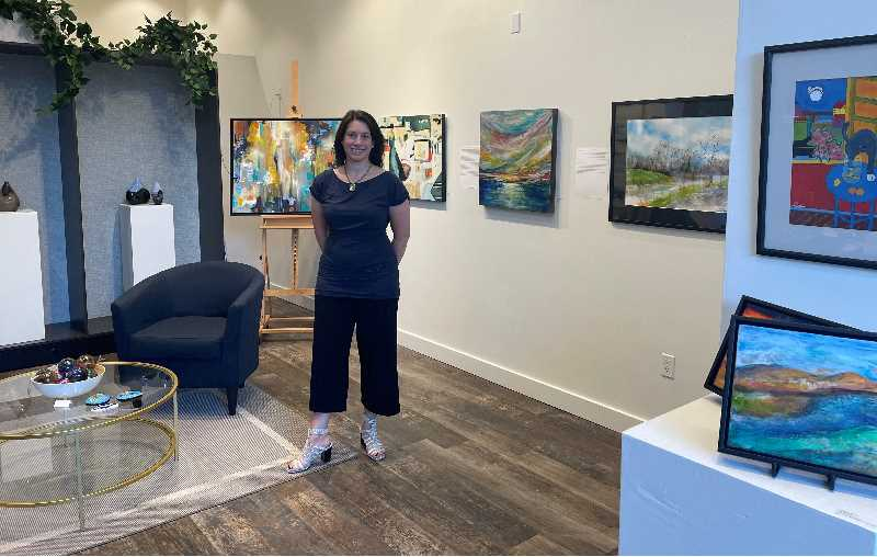 COURTESY PHOTO: JENNIFER PEPIN - A Cedar Hills resident, Jennifer Pepin recently moved her J. Pepin Art Gallery from the Pearl District to Bridgeport Village.