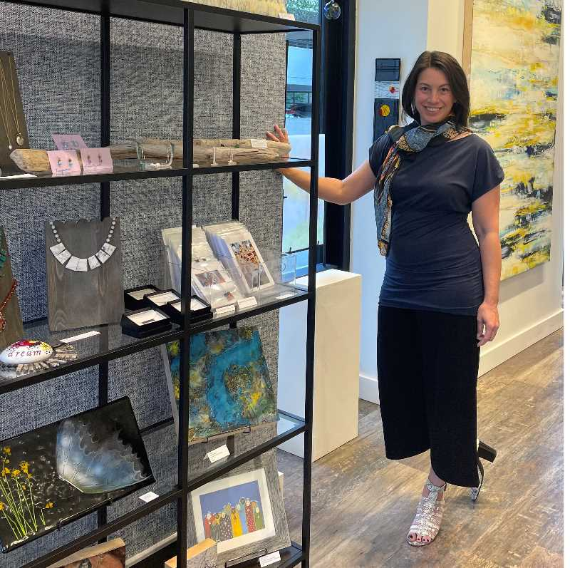 COURTESY PHOTO: JENNIFER PEPIN - Jennifer Pepin recently opened her J. Pepin Art Gallery in Bridgeport Village, featuring artists at various stages of their mental health.