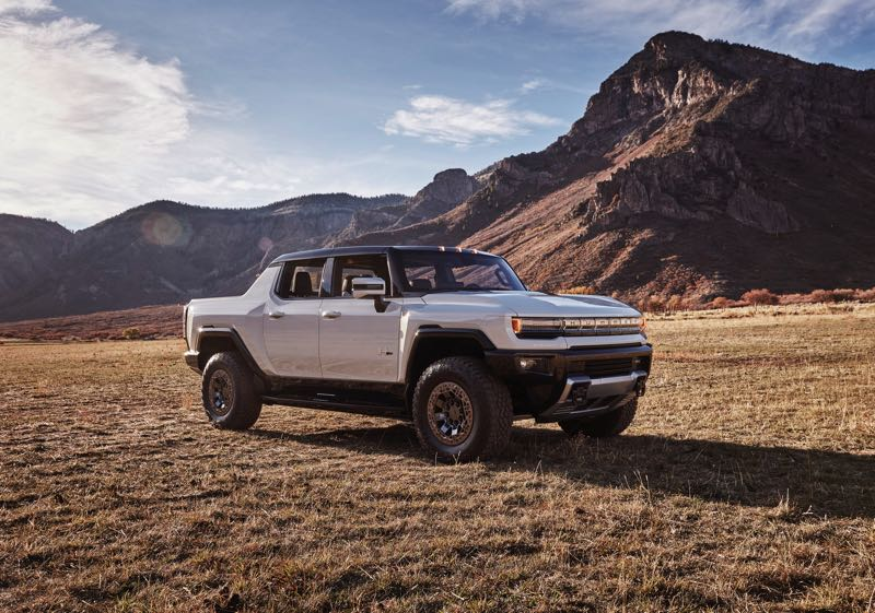 COURTESY PHOTO: GMC - The upcoming 2022 GMC Hummer EV Pickup will have up to 350 miles of range, all-wheel=drive, and a whopping 11,500 foot pounds of torque.