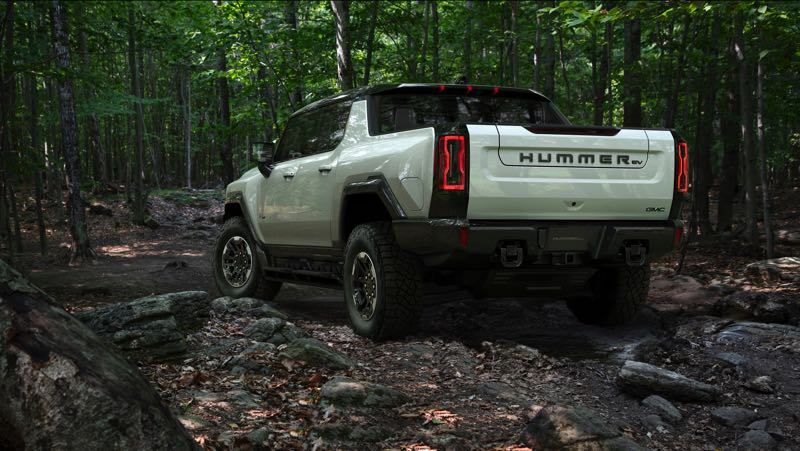 COURTESY PHOTO: GMC - The 2022 GMC Hummer EV Pickup has 10 to 11 inches of ground clearance — and up to 16 inches with the Extreme Off-Road Package.