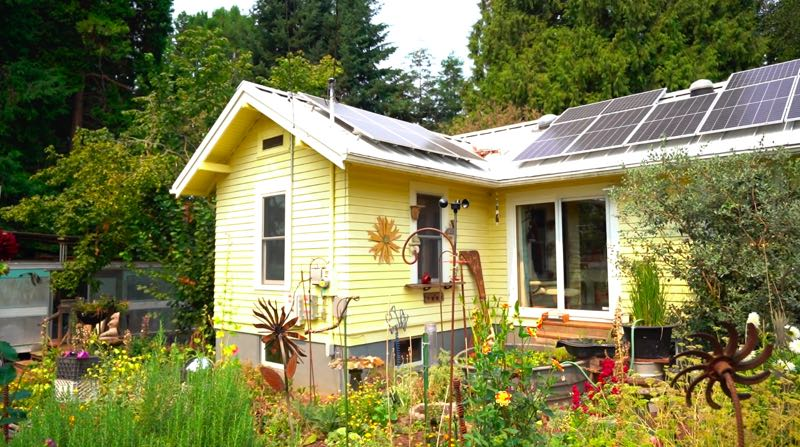 COURTESY PHOTO: SOLOR OREGON - This 1928 home, with its retrofitted solar panels, is being featured in the Go Zero component of the 2021 Sustainable Building Week.