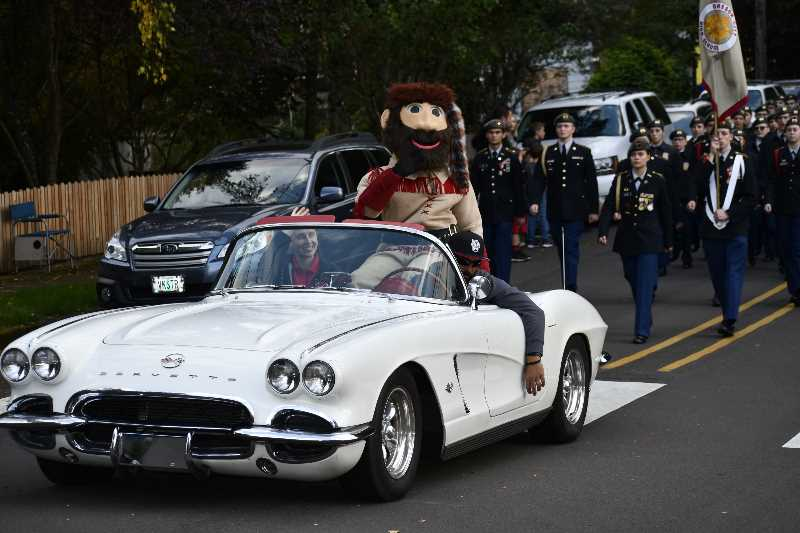 PHOTO COURTESY: OCSD - Oregon City High School has a costume for a Pioneer Pete mascot that is occasionally worn at homecoming parades.