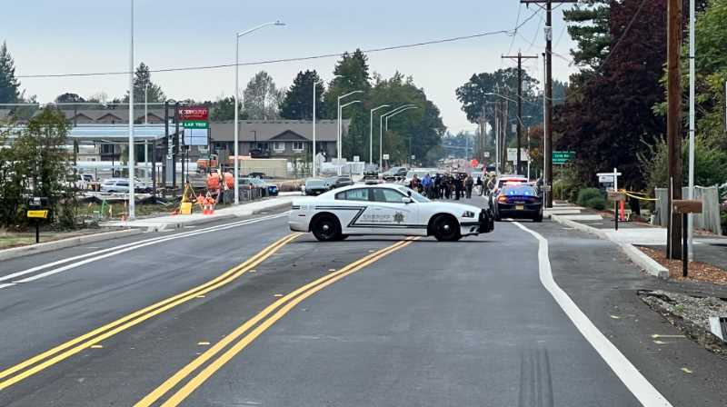 PHOTO - Molalla Police said a man opened fire on officers on Monday.