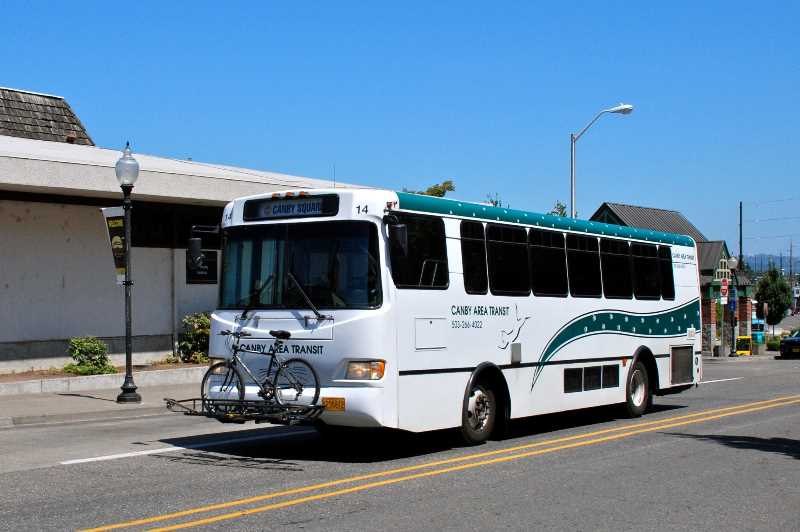 PMG FILE PHOTO - The Canby Area Transit is now offering the Canby Loop, a local circular bus route running 5:30 a.m. to 7 p.m. Monday through Friday.