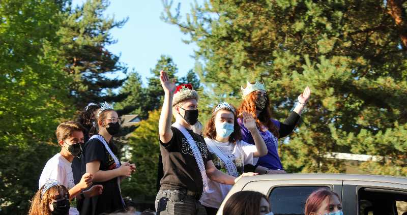 PMG PHOTO: MIA RYDER-MARKS - The Wilsonville High School student body was recognized at the Homecoming parade.