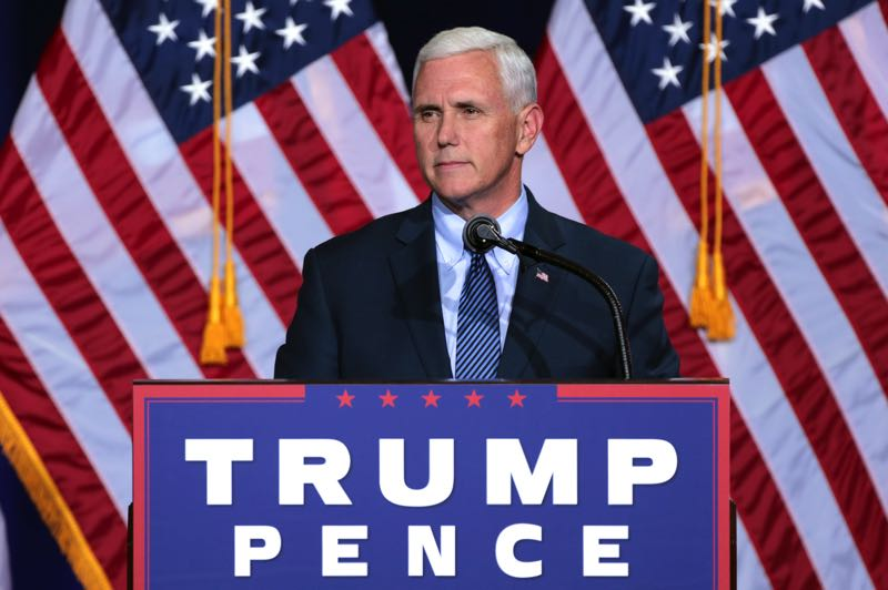 COURTESY PHOTO: GAGE SKIDMORE - Mike Pence speaks at a campaign event in Arizona in 2016, when he was a candidate for vice president.