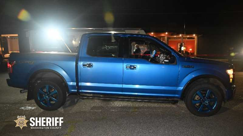 COURTESY: WASHINGTON COUNTY SHERIFF'S OFFICE - A royal blue 2016 Ford F150 that was driven during the Road Rage incident.