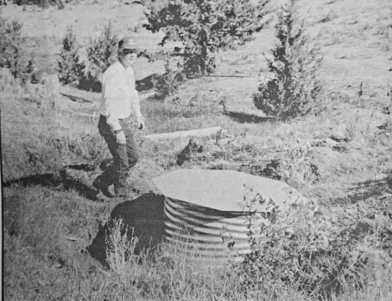 PMG PHOTO PIONEER ARCHIVES  - Oct. 9, 1996: At his ranch in eastern Jefferson County, Galen Wunsch has implemented several stream improvement projects, including the development of two spring boxes, like the one pictured above. The spring boxes provide a source of drinking water for livestock away from the riparian area.