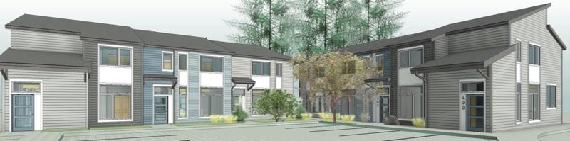 COURTESY HABITAT FOR HUMANITY - New townhomes will be built off Southeast Foster Road in Portland's Pleasant Valley neighborhood.